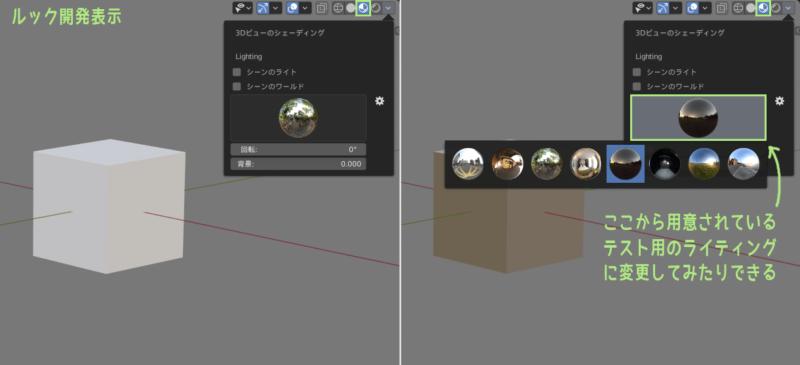 Blender 2.8 ルック開発表示