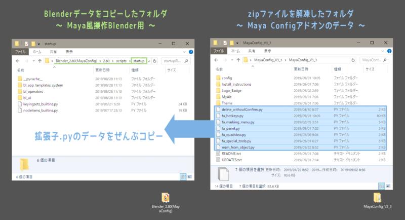 Maya Config For Blender 2.8導入③ 拡張子.pyのデータをコピー