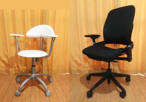 ふつうの椅子とリープチェアの比較
